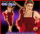 FANCY DRESS COSTUME ROARING 20'S RED FLAPPER SM 8-10